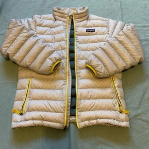 Patagonia Gray Yellow Puffer jacket YL/WSmall